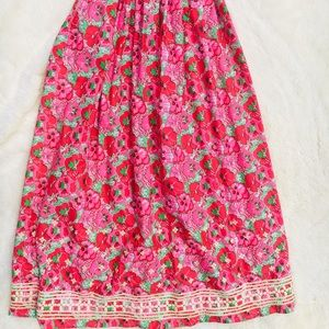Vintage the Lilly Pulitzer maci skirt flowers girl